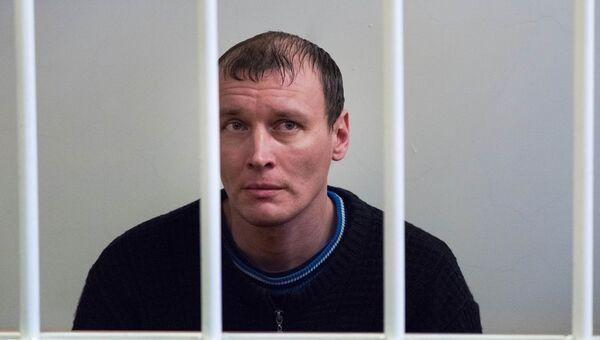 Обвиняемый в теракте в магазине Перекресток в Петербурге Дмитрий Лукьяненко в Калининском районном суде. Архивное фото