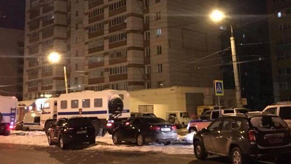 Дом в Казани, где мужчина устроил стрельбу 27.02.18