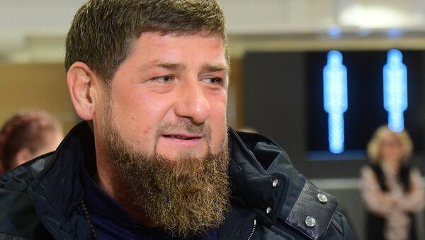 Глава Чеченской Республики Рамзан Кадыров перед началом оглашения ежегодного послания президента Российской Федерации Федеральному Собранию