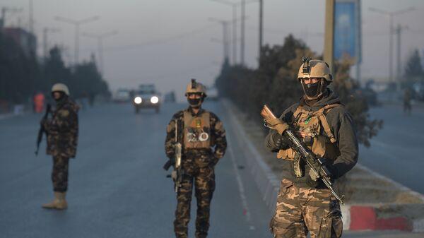 Афганские военные в Кабуле