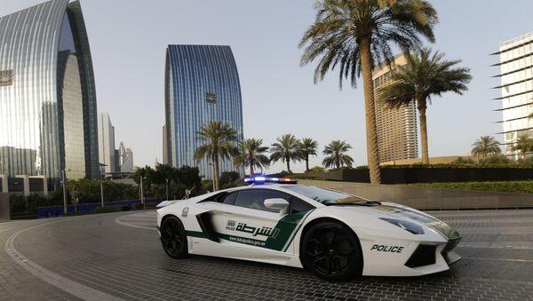 Автомобиль полиции в Объединенных арабских эмиратах. Архивное фото