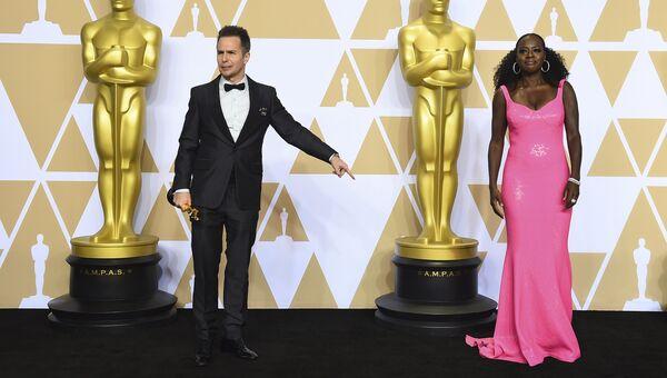 Сэм Рокуэлл и Виола Дэвис на церемонии вручения премии Оскар