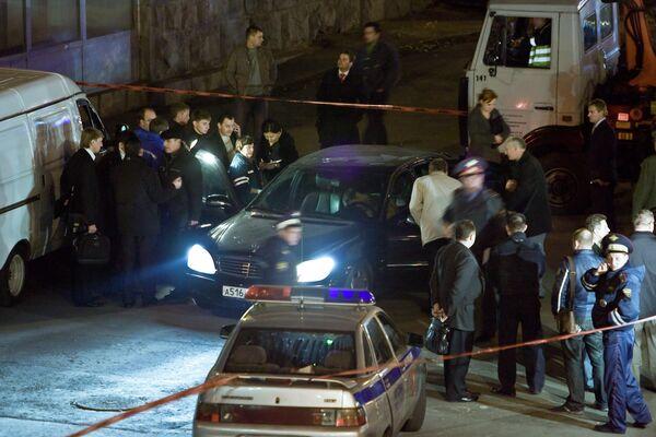 На месте убийства экс-депутата Госдумы РФ Руслана Ямадаева в центре Москвы. Архив