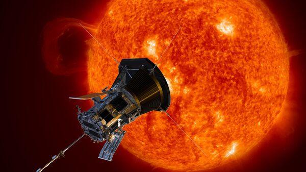 Зонд Parker Solar Probe в представлении художника