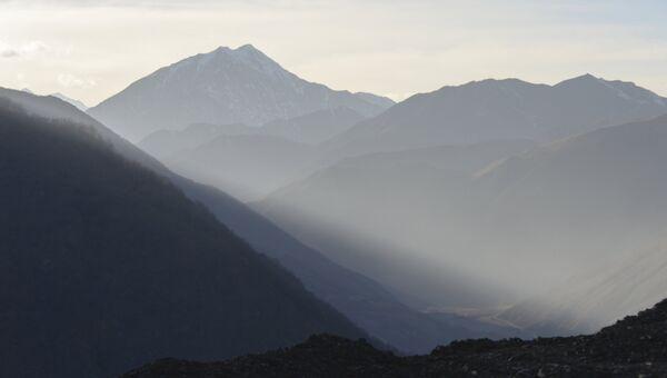 Горы в Итум-Калинском районе Чечни. 7 марта 2018