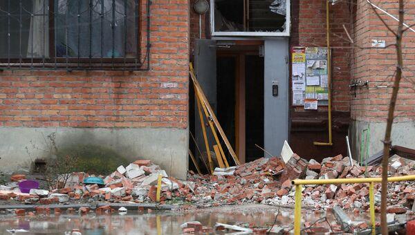 Жилой дом на Славянской улице в Краснодаре, где произошел взрыв газа. 10 марта 2018