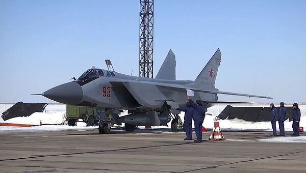 МиГ-31 ВКС провел учебный пуск гиперзвуковой ракеты Кинжал Архивное фото