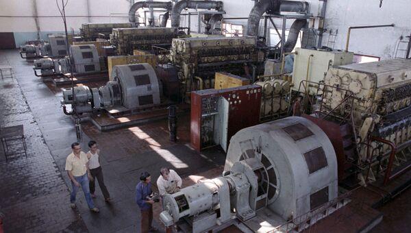 Машинный зал электростанции. Архивное фото