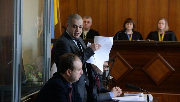 Адвокат журналиста Василия Муравицкого Андрей Гожый во время заседания суда в Житомире
