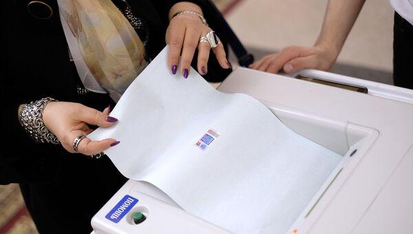 Комплексы обработки избирательных бюллетеней. архивное фото
