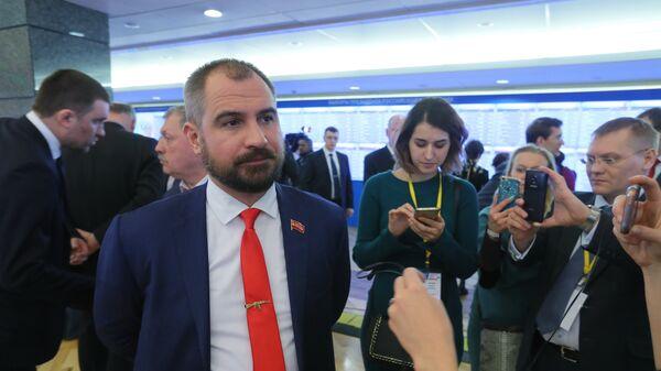 Председатель ЦК партии Коммунисты России Максим Сурайкин