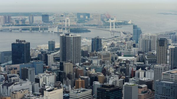 Район Минато и Радужный мост в Токио