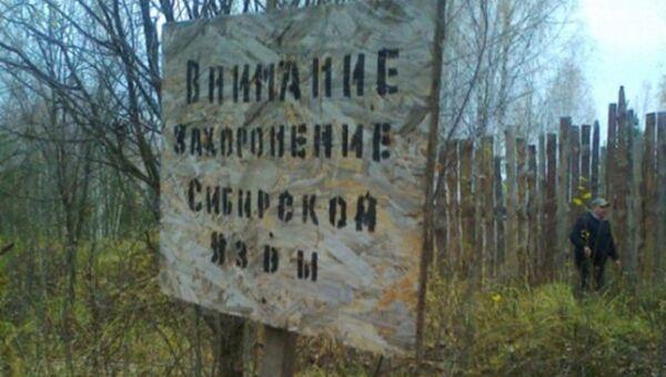 Предупреждение и ограждение скотомогильника. Архивное фото