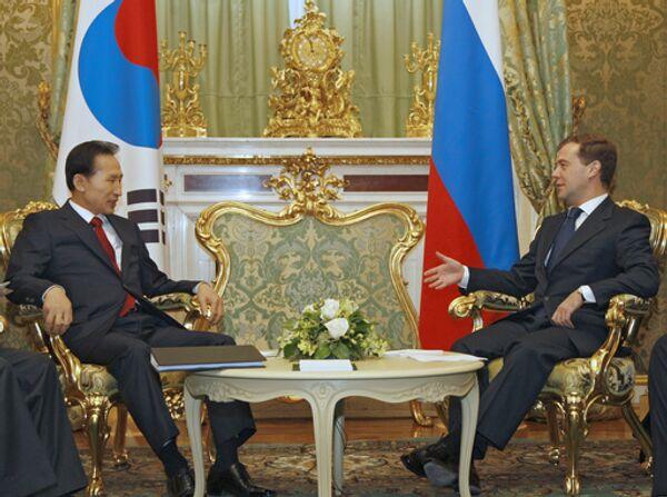 Президенты России и Республики Корея встретились в Москве