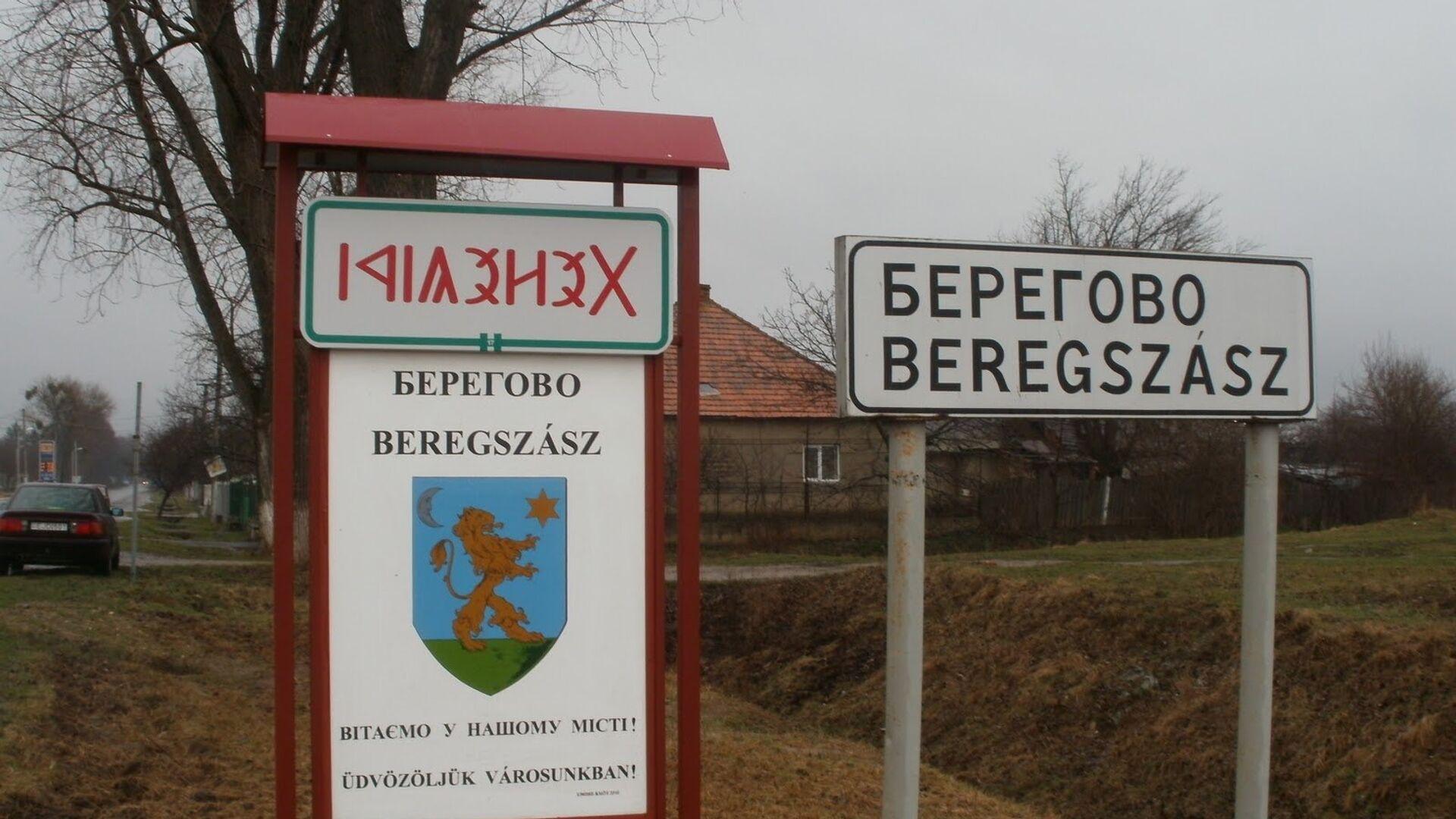 Въезд в город Берегово в Закарпатской области Украины - РИА Новости, 1920, 03.12.2020