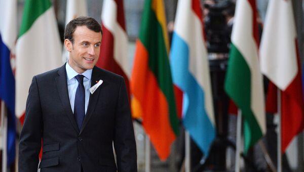 Президент Франции Эммануэль Макрон на саммите ЕС в Брюсселе. 22 марта 2018