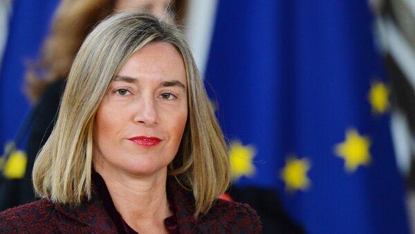 Верховный представитель Европейского союза по иностранным делам и политике безопасности Европейского Союза Федерика Могерини на саммите ЕС в Брюсселе. Архивное фото