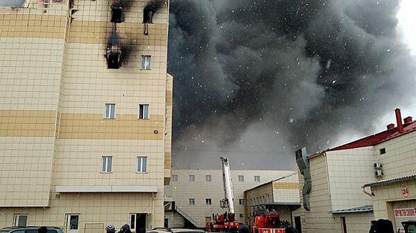 Пожар в здании торгового центра Зимняя вишня в Кемерово. 25 марта 2018