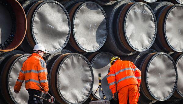Трубы для строительства российского газопровода. Архивное фото