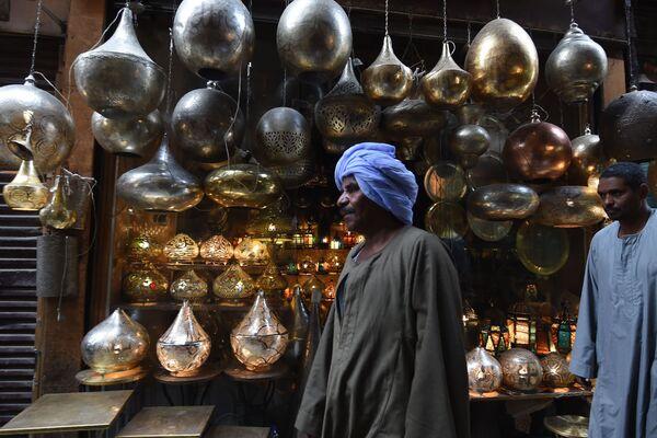 Рынок Хан аль-Халили в старой части Каира