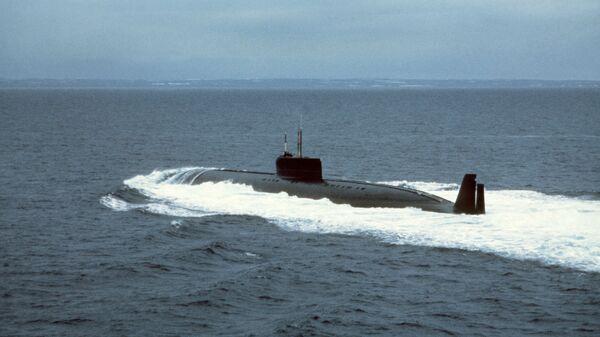 Атомная подводная лодка К-162 (известная позднее также как К-222) на испытаниях