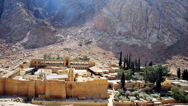 Монастырь Святой Екатерины у подножья горы Синай в Египте