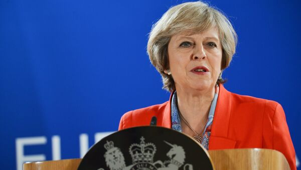 Премьер-министр Великобритании Тереза Мэй. 21 октября 2016 года