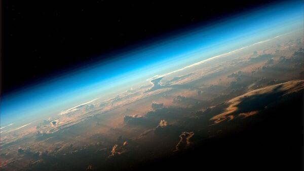 Вид на Землю с борта МКС снятый космонавтом Роскосмоса Олегом Артемьевым