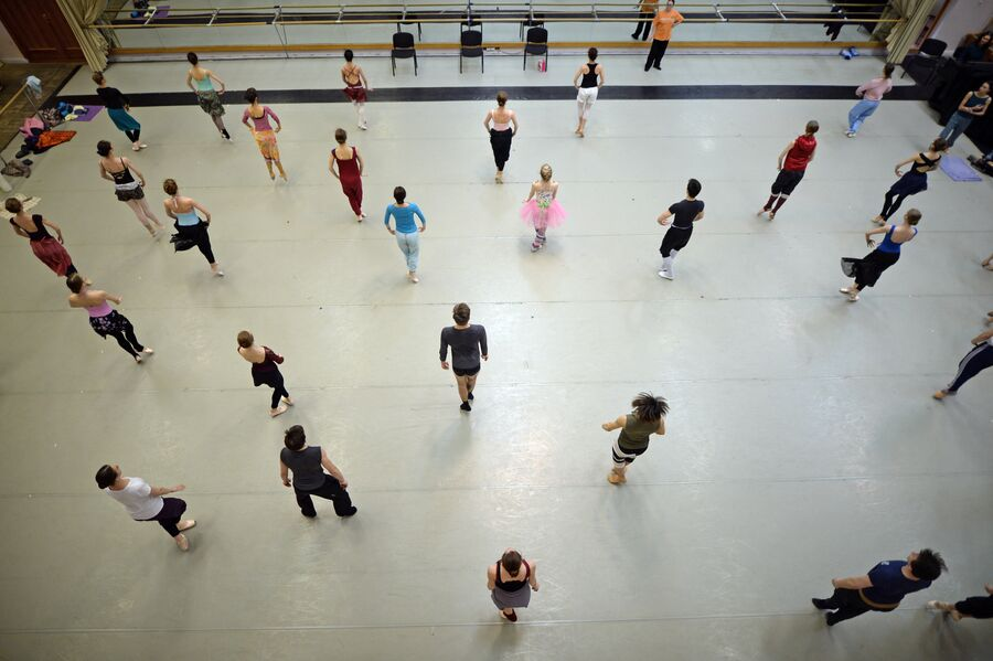 Балетный класс в Новосибирском оперном театре