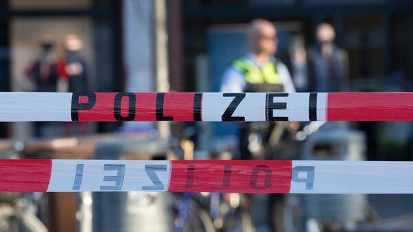 Немецкая полиция на месте происшествия