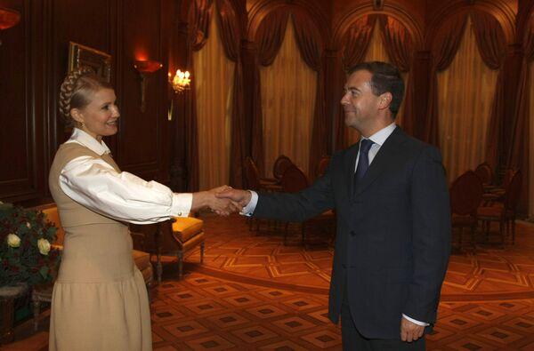 Д.Медведев Ю.Тимошенко