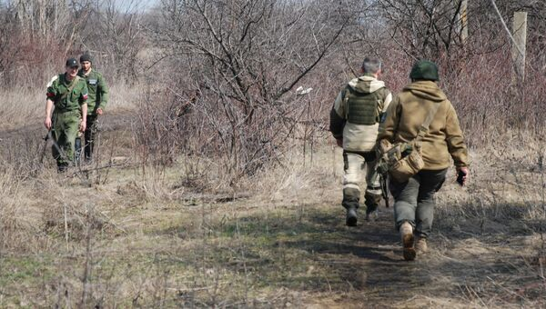 Бойцы в Луганской области. Архивное фото.