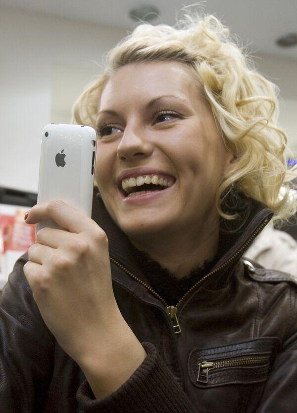 Первые покупатели коммуникатора iPhone3G в Москве