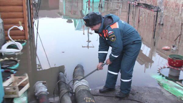 Ликвидация паводка на территории Воронежской области. 12 апреля 2018