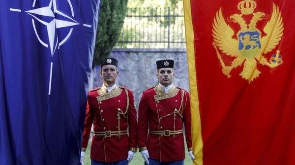 Почетный караул на церемонии вступления Черногории в НАТО в Подгорице. 7 июня 2017. Архивное фото