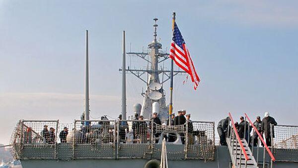 Американский военный корабль. Архив