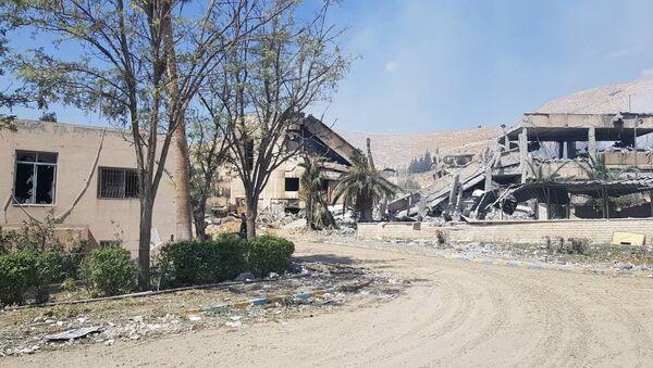 Исследовательский военный центр в Барза, Сирия. 14 апреля 2018