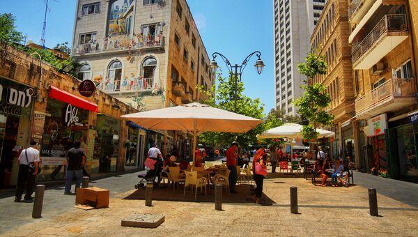 Пешеходная зона в центре Иерусалима. Архивное фото