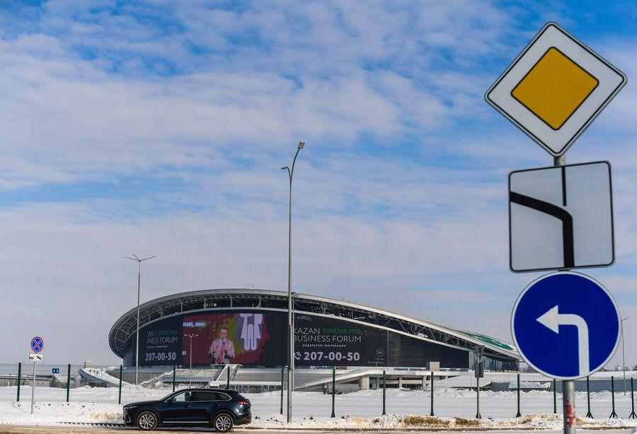 Вид на стадион Казань Арена