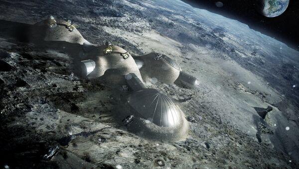 Проект базы на Луне архитектурной фирмы Foster + Partners