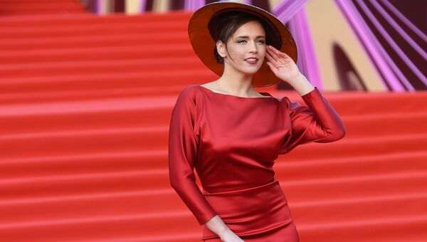 Актриса Янина Мелихова на церемонии открытия 40-го Московского международного кинофестиваля (ММКФ)