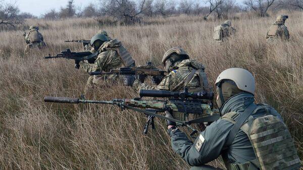Морские пехотинцы ВСУ во время учений. Архивное фото