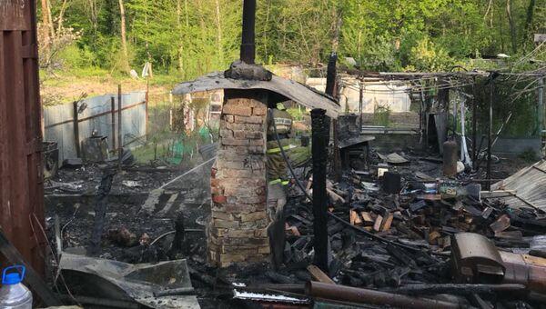 На месте пожара в городе Геленджик. 22 апреля 2018