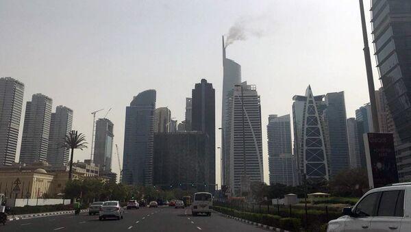 Пожар в Almas Tower в Дубае. 22 апреля 2018