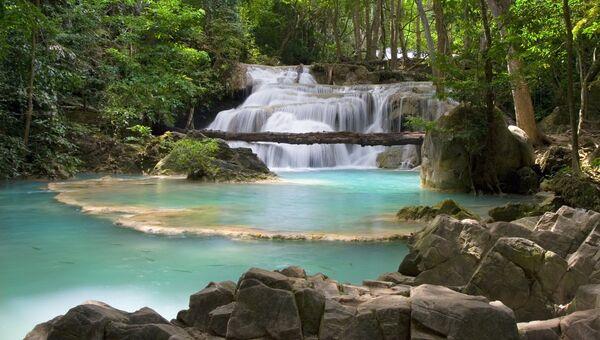 Горный водопад, Таиланд