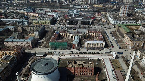 Вид на территорию музея-заповедника Сталинградская битва в Волгограде