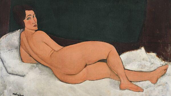 Амедео Модильяни. Лежащая обнаженная. 1917-1918. Архивное фото