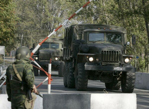 Пост миротворческих сил РФ у населенного пункта Каралети