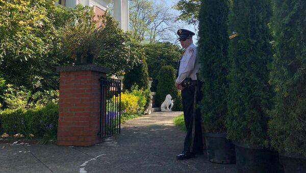 Обстановка у российского генконсульства в Сиэтле. 25 апреля 2018