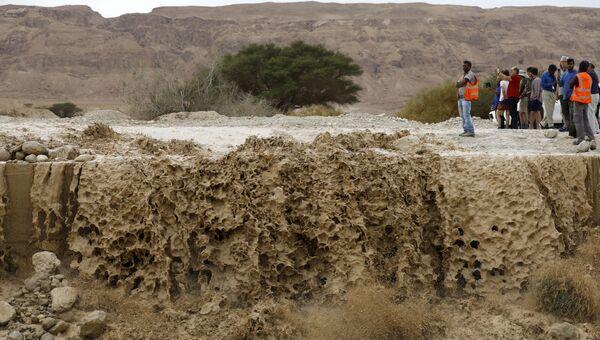 Затопленная долина вдоль Мертвого моря, Израиль. Архивное фото
